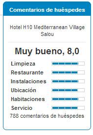 Comentarios H10 Mediterranean Village Salou